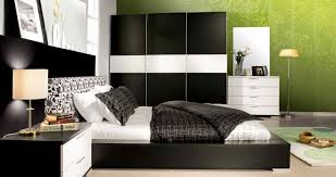 bedroom agreeable black modern bed idea beside terrific side table design and cute white shade black furniture room ideas