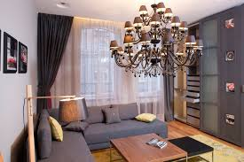 decor tips stylish studio apartment decorating for home chandelier and coffee table with modular sofa also office charming office design sydney