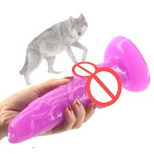 <b>Big Animal Dog Dildo</b> Knotted Suction Cup Wolf Penis Sex Toys For ...