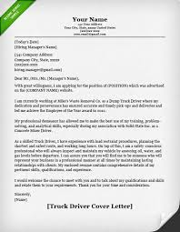 truck driver cover letter example Resume Genius