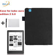 Hot <b>Litchi</b> pattern folio <b>PU leather protective</b> cover for Kobo Aura ...