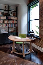 half circle desk home office industrial with built in shelves curved black home office chairs