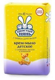 <b>Детское</b> крем-<b>мыло Ушастый нянь</b> с экстрактом ромашки 90 гр ...