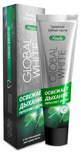 <b>Зубная паста Global</b> White Травяная фреш, мята — купить по ...