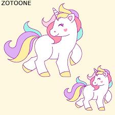 <b>ZOTOONE Unicorn</b> Patch Cartoon Iron On Transfer Cute Animal ...
