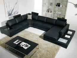living room sofa ideas:  awesome black leather sectional living room ideas black leather sectional sleeper sofa beige shag wool area