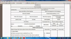 itaxsoftware net now look the format of form 16 part b