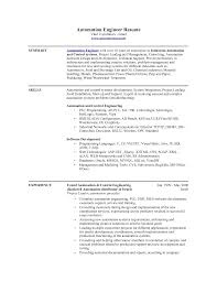 automation engineer resume examples resume examples  industrial engineering