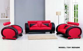 divani casa 7391 black and red furniture