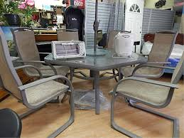 patio table and 6 chairs: hexagon patio table with patio furniture set and wooden pattern tiles full size