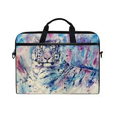 <b>Laptop Case</b>, White Tiger Painting, <b>Laptop</b> Shoulder Messenger ...