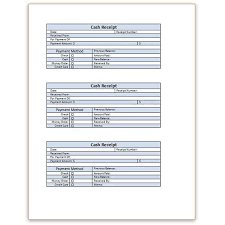 a  cash receipt template for word or excel word cash receipt template three to a page
