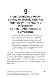 from technology driven society to socially oriented technology thinking ahead essays on big data digital revolution and participatory market society