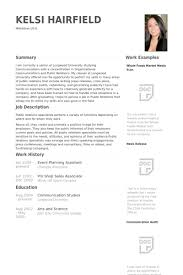 event planning resume samples   visualcv resume samples databaseevent planning assistant resume samples