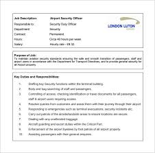 security officer job description templates – free sample    airport security officer sample job description free template