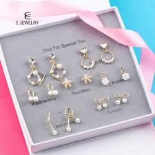 <b>E Jewelry 925 Sterling</b> Silver Jewellery Sets for Women Blue Crystal ...