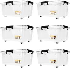 SortWise <b>30L</b>/32-Quart, 6-Pack Plastic Ultra Latch <b>Storage Box</b> with ...