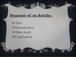 Image result for main body of an article