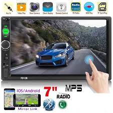 PODOFO 2 Din Car Radio Car Video Player <b>7</b>'' <b>HD Player MP5</b> ...