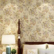 <b>American Country Pastoral</b> Style Delicate Flowers Wallpaper Warm ...