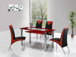 Faux Leather Dining Room Chairs Large Glass Dining Table Dining Table And Chairs Glass Dining Sets