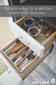 bathroom drawer organization: simple ways to organize bathroom drawers our house now a home