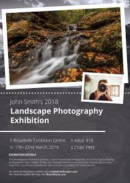 exhibit flyer template loaded landscapes photography exhibit flyer template