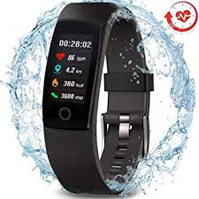 MorePro Waterproof Health Tracker, Fitness Tracker <b>Color Screen</b> ...