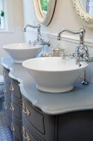 white ceramic porcelain vessel bathroom vanity sink