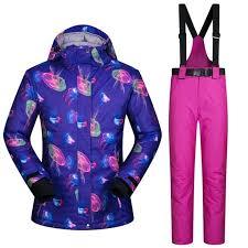 Dropshipping Sportwear <b>Female Ski</b> Suit Waterproof <b>Women Winter</b> ...