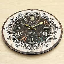 wall clock tracery vintage rustic shabby art clock chic home office cafe decoration chic vintage home office