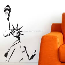 liberty bedroom wall mural: new york statue of liberty wall art stickers decal wall art home decoration wall sticker removable bedroom decor wall stickers