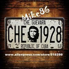 [ <b>Mike86</b> ] <b>CHE</b> GUEVARA 1928 Car License Plates Vintage Art Wall ...