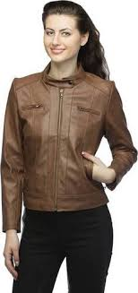 Tan <b>PU Leather Solid Women's</b> Leather Jackets, Rs 2450 /piece   ID ...