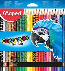 <b>Цветные карандаши Maped Color</b>'pers Animals, 24 цвета, в ...