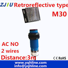 online get cheap photocell switch aliexpress com alibaba group m30 retroreflctive type ac90 250v no 2 wires photoelectric sensor infrared ray photocell switch