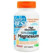 Doctor's Best <b>High Absorption</b> 100% Chelated <b>Magnesium</b>, Tablets ...