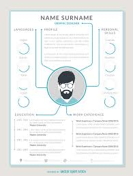 graphic designer resume cv vector cv mockup template portrait