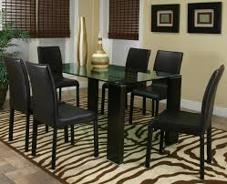 Brown Leather Dining Room Chairs Dining Room Glass Wood Dining Tableextravagant Rectangular