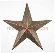 metal star wall decor: amp rustic metal barn star brushed copper texas tin wall decor wall mounted ebay