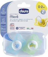 chicco пустышка micro для принцессы карета корона силиконовая 2 шт