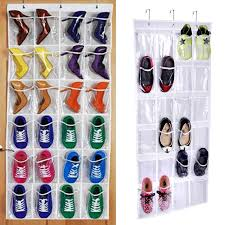 <b>24 Grid</b> Over Door Hanging Shelf Holder Shoe bathroom <b>Storage</b> ...