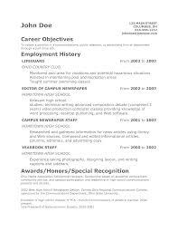 teenage resume examples  basic resume objective examples  resume    teen resume objective samples