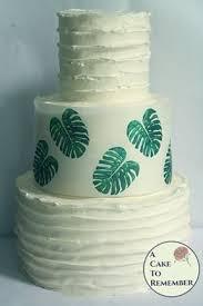 Tropical monstera <b>leaf</b> edible wafer paper- <b>3 sheets</b>   Luau cakes ...