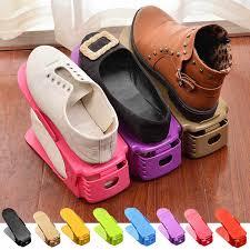 <b>1 Pc</b> Adjustable Plastic Shoes Display Rack Durable Space Saving ...