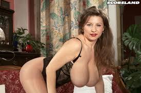 Scoreland Blog Maya Milano Samantha hangs em out to dangle in a classic tit shot.