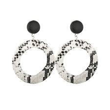 2019 Vintage <b>Leopard</b> Print Drop <b>Earrings Exaggeration</b> Geometric ...