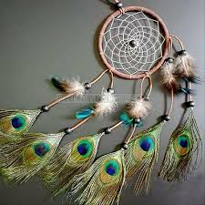 Dream Catcher <b>Peacock Feather</b> Home Wall Hanging Decoration ...