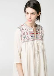 Beaded embroidered dress - Women | <b>Mango</b> United Kingdom ...