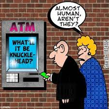 Image result for dog and ATM cartoon